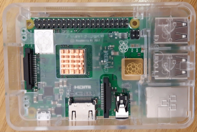 Raspberry Pi 3B+ with lid off