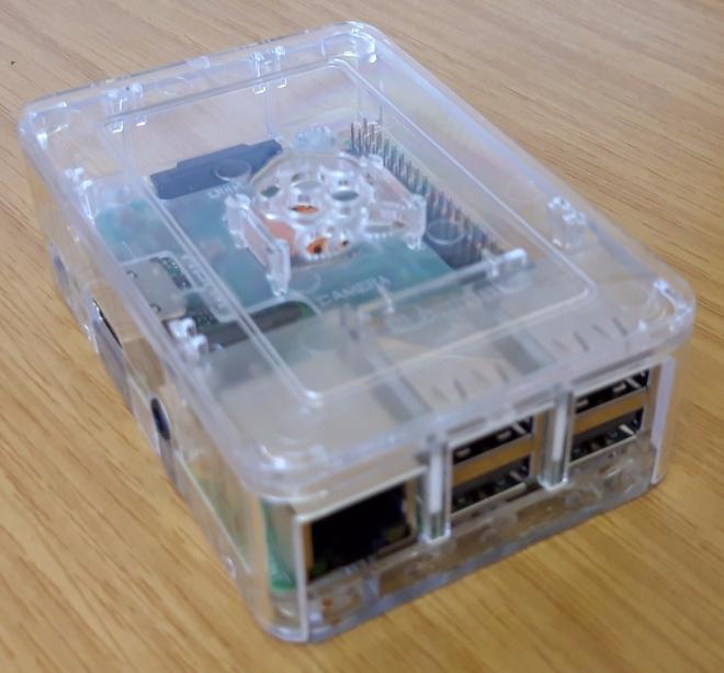 Raspberry Pi 3B+ in its case
